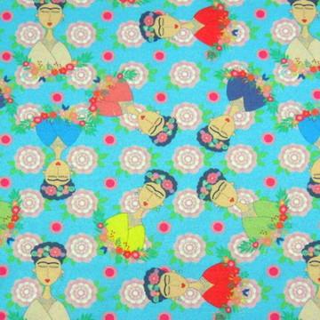 TD07 Tecido Frida explosão de flores