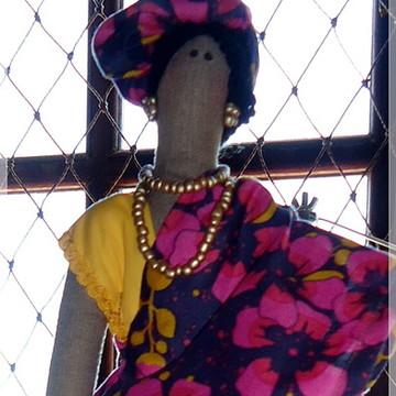 Boneca estilo TILDA - figurino Africana