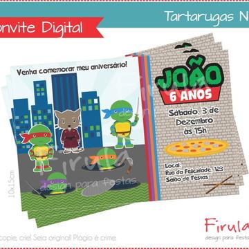 Convite Digital Tartarugas Ninja