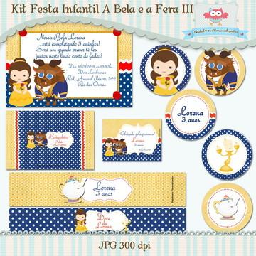Kit Festa A Bela e a Fera III(arte)