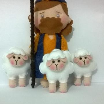 Pastorzinho com ovelhas