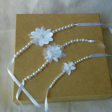 Pulseira/corsage Flor de Laranjeira