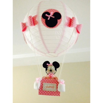 Lustre balão luminária Baby Minnie