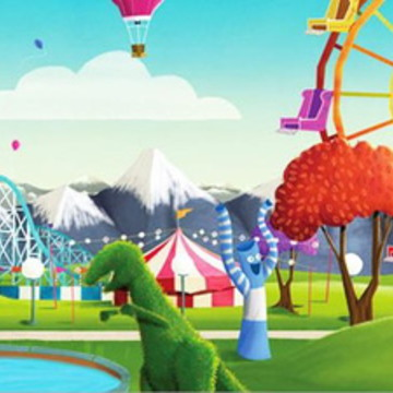Painel de Festa Parque de Diversões
