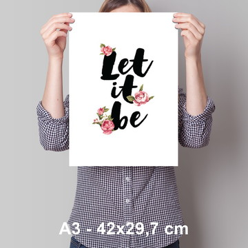 Cartaz Let it be