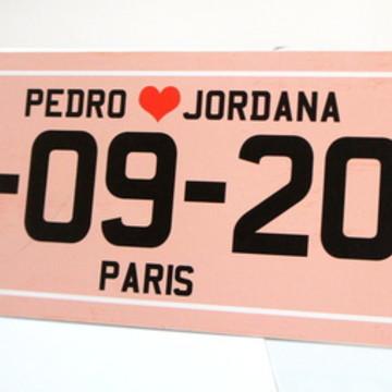 Placa Personalizada Carro - Paris