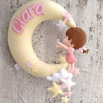 Guirlanda Maternidade boneca em feltro
