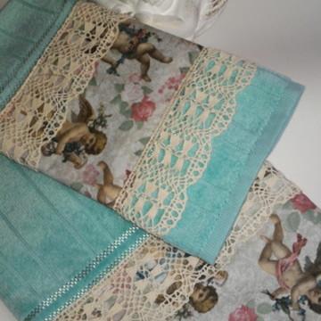 Conjunto de toalhas rosto e lavabo
