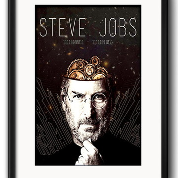 Quadro Steve Jobs Arte com Paspatur