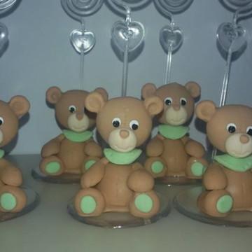 lembrança em biscuit porta recado urso