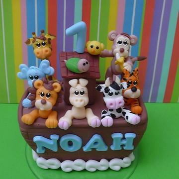 Topo de bolo - Arca de Noé 3