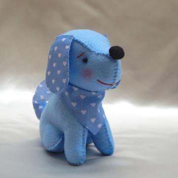 Cachorrinho em Feltro com Lenço - Azul