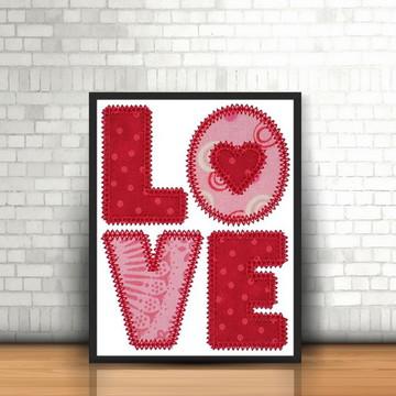 Quadro com moldura - Love
