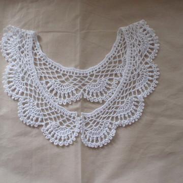 Gola avulsa ou pala de crochê romântica vintage