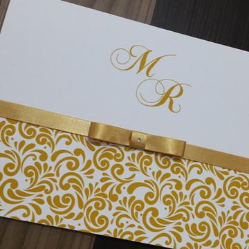 Convite casamento - Convite de 15 anos - Dourado