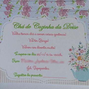Convite simples / Chá de cozinha