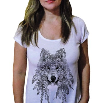 Camiseta Feminina Lobo 5