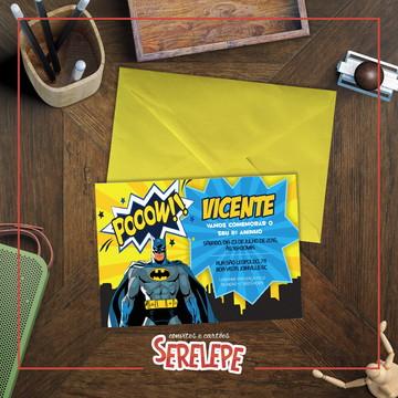 Convite Impresso Batman