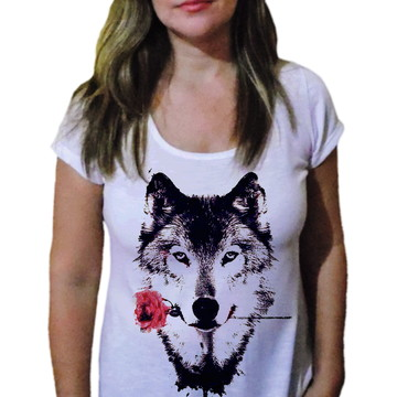 Camiseta Feminina Lobo 9