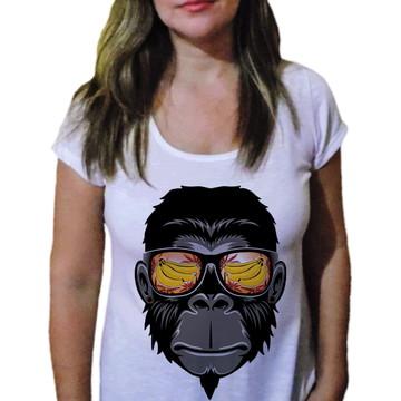 Camiseta Feminina macaco swag