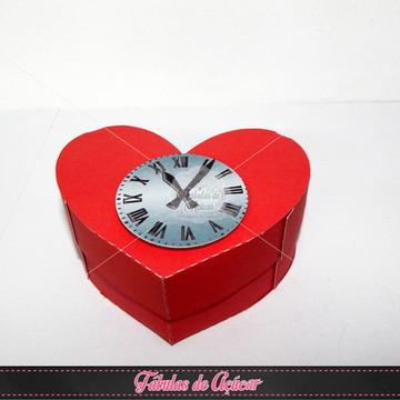 Caixa Coração Homem de Lata