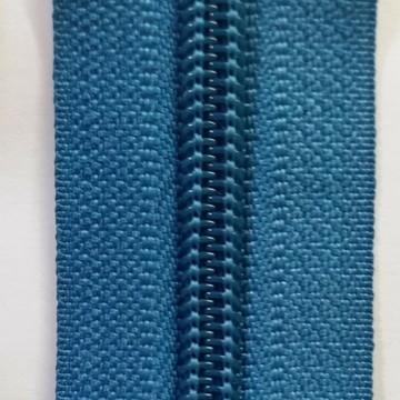 ziper de metro azul turquesa