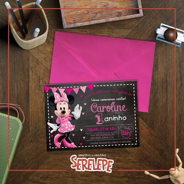Convite Impresso Minnie