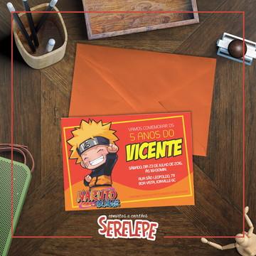 Convite Impresso Naruto