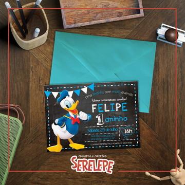 Convite Impresso Pato Donald