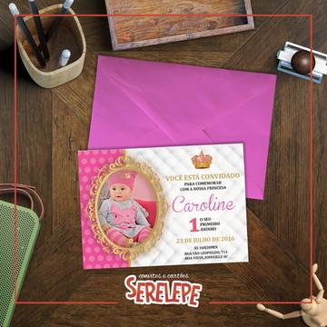 Convite Impresso Princesinha