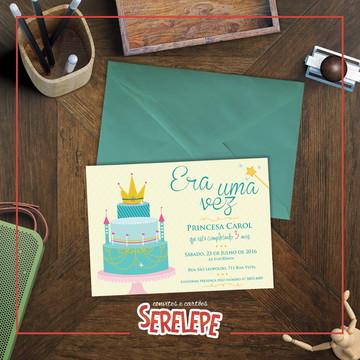 Convite Impresso Reino Encantado