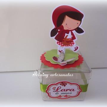 Caixa de acrílico chapeuzinho vermelho