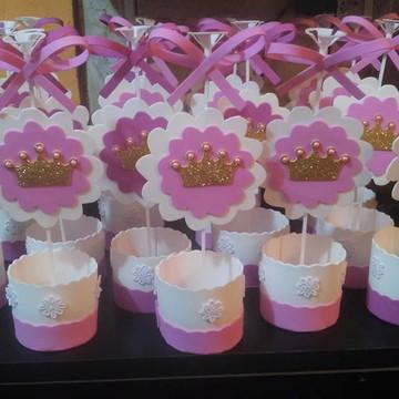centro de mesa coroa de princesa