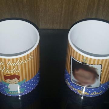 Caneca Porcelana Personalizada Batizado