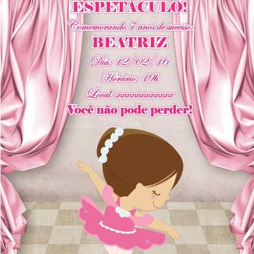 Arte digital - convite Bailarina