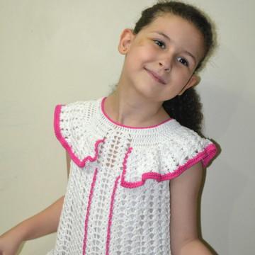 Vestido Menina em Crochê