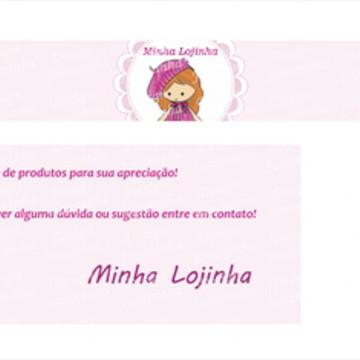 Kit Menina com boina - banner, fachada e perfil
