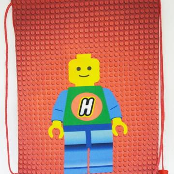 Kit Mochilas ou Sacolas Tema Lego