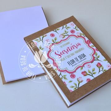 Bloquinho de anotações Dia da Secretária