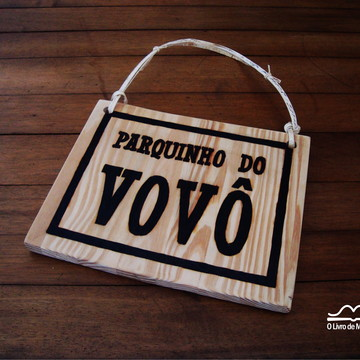 placa personalizada de madeira