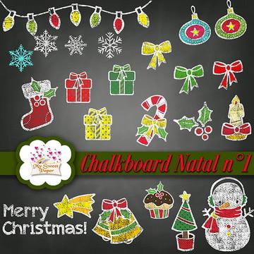 Kit digital Chalkboard Natal n°1