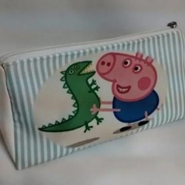 Estojo Necessaire Escolar George Pig
