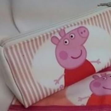 Estojo Necessaire Escolar Peppa Pig