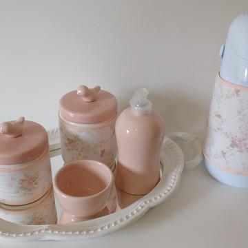 Kit higiene bebê de porcelana
