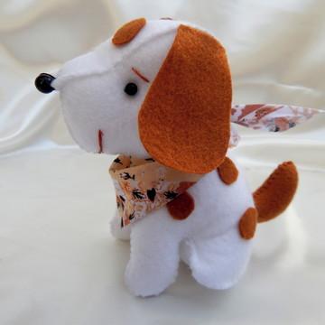 Cachorrinho em Feltro com Lenço - Branco