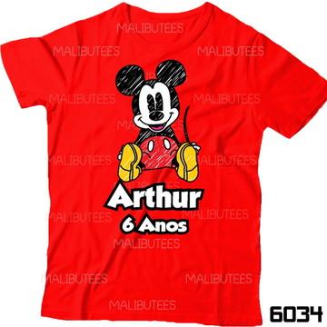Camiseta Mickey Rabiscado Aniversario