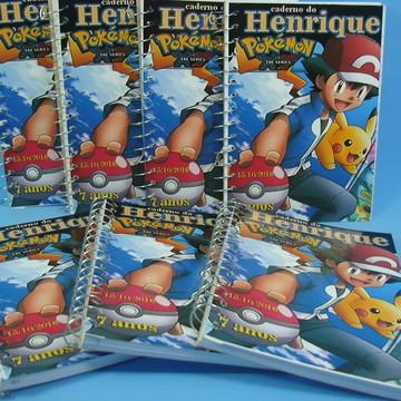 Caderneta Lembrancinha Pokemon