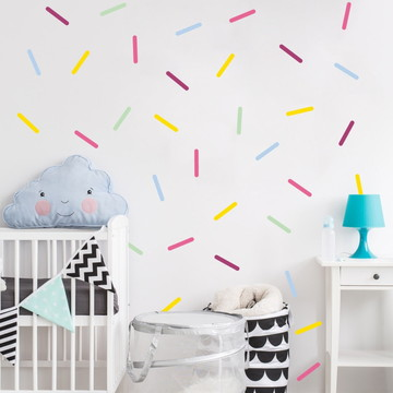 adesivo de parede confeitos coloridos