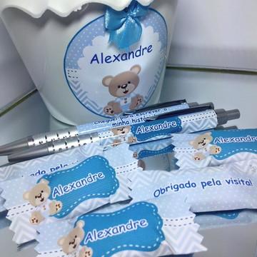 Lembrancinha canetas para maternidade - nascimento urso