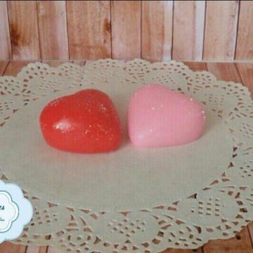 Sabonete Artesanal Coração Médio